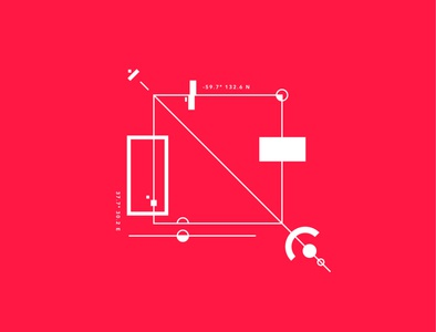 Geomitrical test #1 contrast minimalism square symbol red graphic geometry