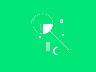 Geometrical test #2 square contrast minimalism circle symbol green graphic geometry