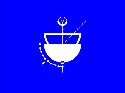 Geometrical test #3 contrat minimalism circle symbol blue graphic geometry