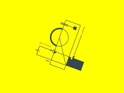 Geometrical test #4 contrast minimalism square symbol yellow graphic geometry