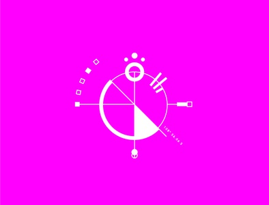 Geometrical test #5 contrast circle minimalism symbol pink graphic geometry