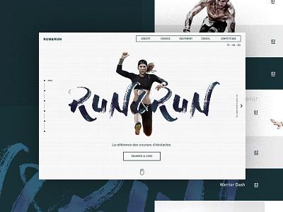 Run&Run webdesign pattern homepage brush sport run