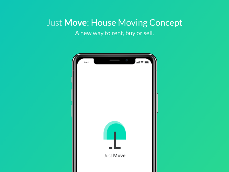 Just Move: House Moving Concept brand real estate branding brand identity ios app visual visual  identity minimal real estate logo real estate house move house move logo branding typography graphics flat design