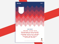 England World Cup Poster