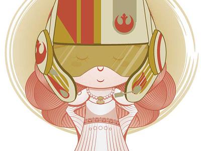 L'il Rebel digital illustrator rebel chrislyn