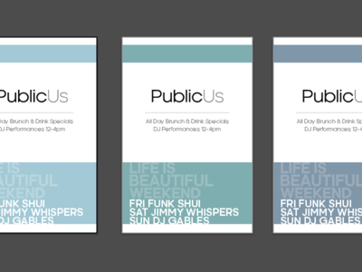 PublicUs Life is Beautiful Flyers