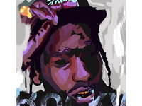 ASAP Rocky – Digital Paint Sketch