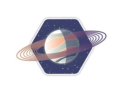 OC10-1419 explore future illustration ring planet space designer astronaut art vector illustrator design