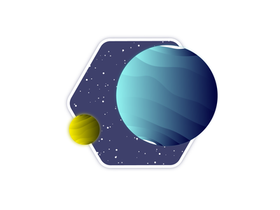 QR 71 new planet blue and yellow blue future explore space