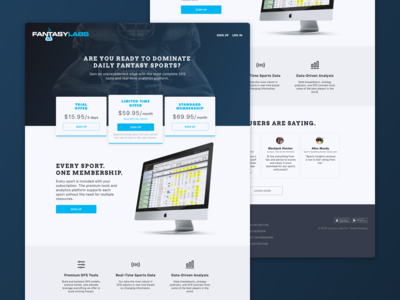 Marketing Landing Page for Fantasy Labs