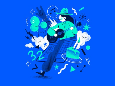 VIRTUAL CONCERT editorial illustration concert virtual advertising design artist illustration