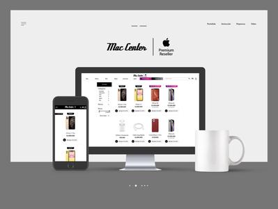 Ecommerce - Mac Center webdesign website vector logo design illustrator uxdesign landing page graphic design