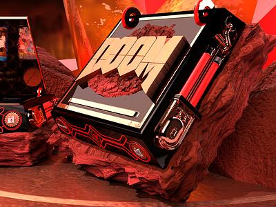 Doom Collectors Edition adobe dimension render art doom design adobe dimension 2018 adobe dimension cc 3d art graphic design