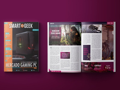 Concept magazine - SmartGeek revista magazine gaming photoshop indesign cover book editorial design illustrator graphic design
