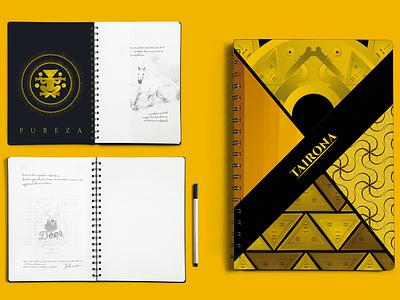 Notebook design - TAIRONA photoshop illustrator colombia tairona cover design cover book editorial design design graphic design