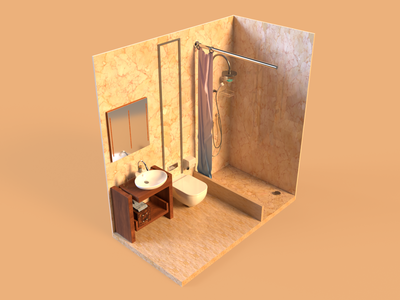 Texture, lights and render - Bathroom