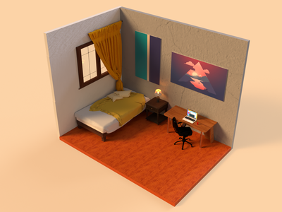 Texture, lights and render - Room adobe dimension rendering renders graphic design 3d art