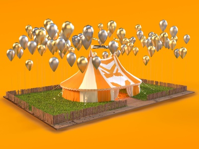 CIRCUS / CIRCO modeling render art animation c4d 3d