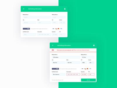 Partshub Payment Screens payment form form automotive design startup ux ui web design web product design software payment app