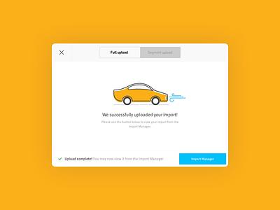 Partshub Modal Illustration startup ux ui car illustration automotive auto car iconography icons illustration software design software product design product website design web app
