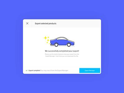 Partshub Modal Illustration startup ux ui automotive auto car illustration illustration icon alert digital product website design web software design app