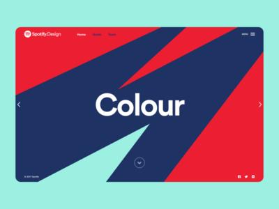 Spotify Design Team Website brand webpage design ux ui branding color grid product design web design spotify website design website web