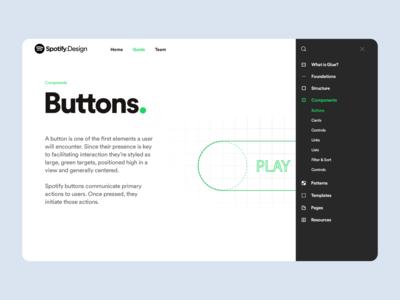 Spotify Design Team Website grid system design ux ui typography color spotify branding brand web design website design website web