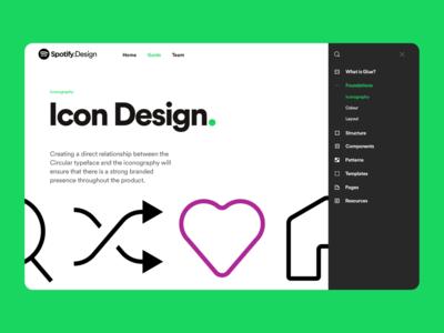 Spotify Design Team Website website design brand identity icons spotify brand design color web illustration brand webpage design website branding ux ui