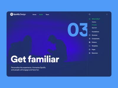 Spotify Design Team Website spotify website design illustration web color typography brand webpage design website branding ux ui