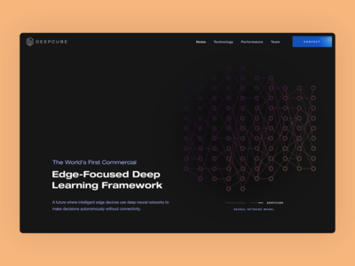 DeepCube Marketing Page - Sparsified Neural Network web design agency ux design agency uxui ux artificial intelligence ai user experience user interface flat website design website web application app