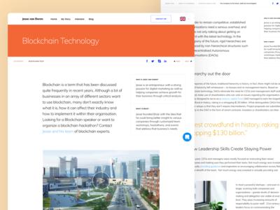 Article Page for Growth Hacker Jesse van Doren user experience web design agency ux design agency uiux ux ui typography grid clean webpage design web design website web