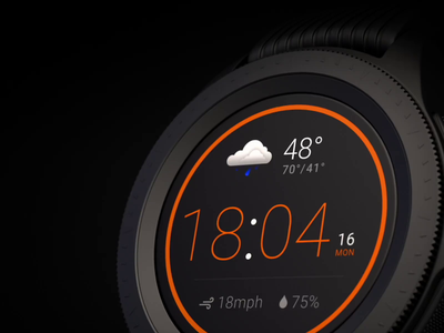 Smartwatch Weather App design app application platform weather animationstudio animations motion watchos gear samsung watches watchface watch ui ux