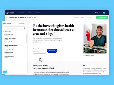 OnScreen Digital Adoption Platform product design product tooltip helper wizard grid typography website design app startup webpage design web ui ux