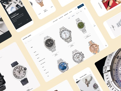 Eleven James eCommerce Website shop ecommerce watches watch brand startup webpage design web website ui ux