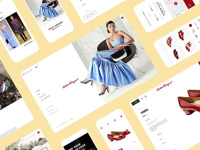 Ferragamo Website 2017 location map shopping shop ecommerce shoes app shoes italian italy fashion brand branding typography website design grid design web website ui ux