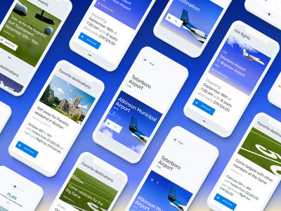 App for private flight aircraft book airlines travel typography cleaning mobile app design mobile ui booking flight booking clouds airplane flying flight mobile app design web ui ux