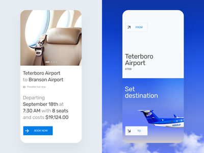 App for private flight ux ui web app mobile flight flying airplane clouds flight booking booking mobile ui design mobile app clean typography travel airlines book aircraft