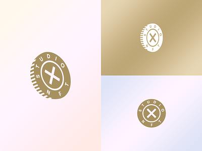 Studio X NFT Brand Mark token rainfall nftart art community cryptocurrency money coin vector ui ux icons graphics nft crypto identity branding brand logo design
