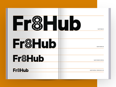 Fr8Hub - Brand Book manual book system design grid typography type color brand