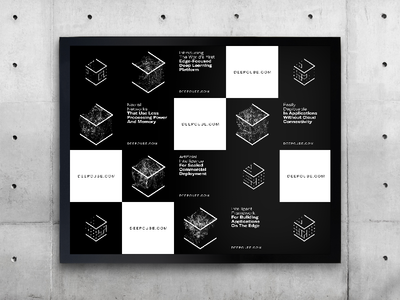 DeepCube Identity Event Wall – Designed and Developed with AI deep learning artificial intelligence ai typogaphy graphic design identity design brand identity brand design branding brand logo