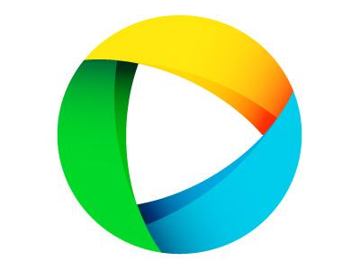 Logo Concept: Shutter/Play logo lens shutter rgb