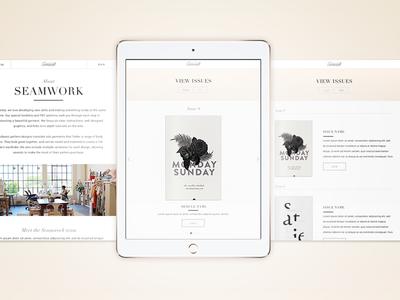 Seamwork iPad Newstand App