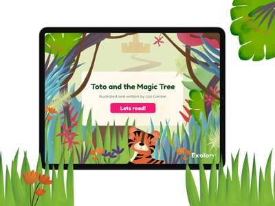 Toto and The Magic Tree - Homescreen children book illustration childrens book books ipad animals procreate design illustration illustrator ux design ui ux app