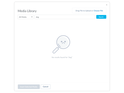 Sad Spy Glass media library file manager search empty state illustrator iconography icon ux icons design ui illustration