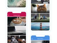 Letterbox UI Layout mobile app design list layout mobile layout app design ux ui layout design