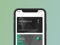 New Dexwallet UI using Cards as a metaphor for wallets