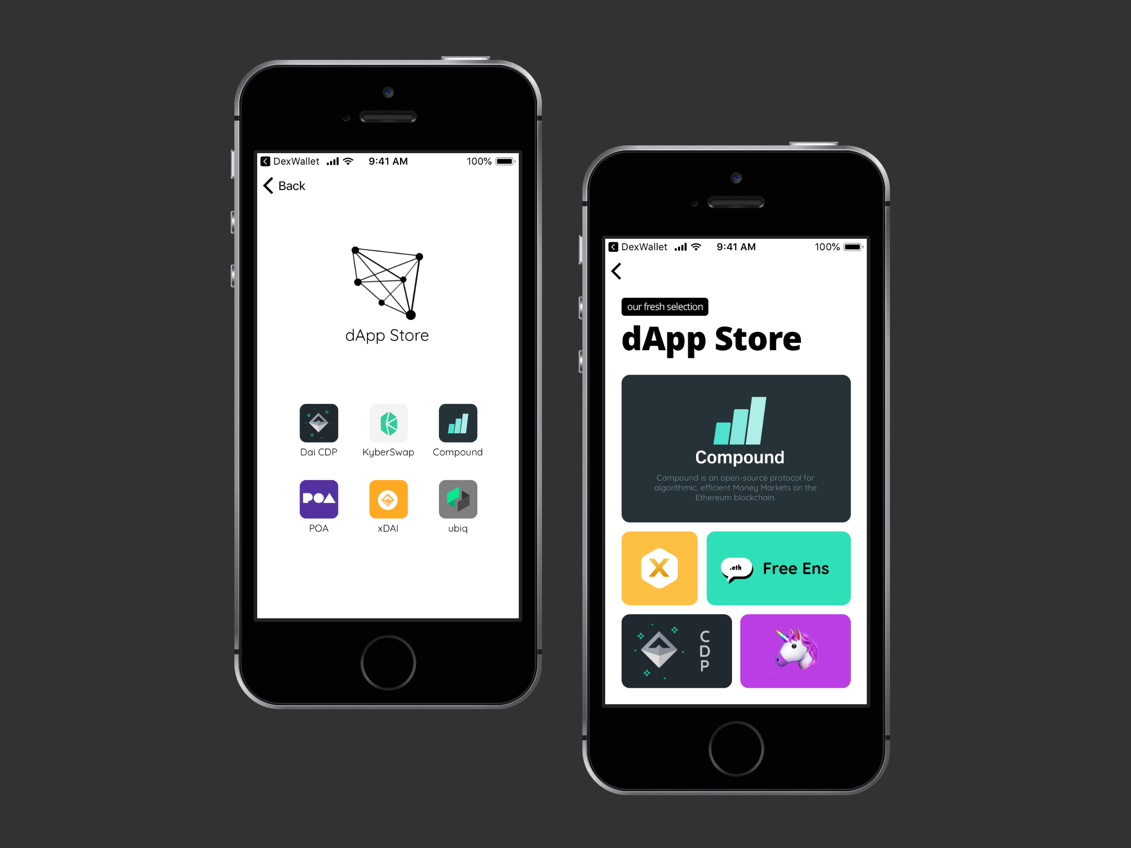 dApp Store - dexwallet io by Nicola Di Marco | Dribbble | Dribbble