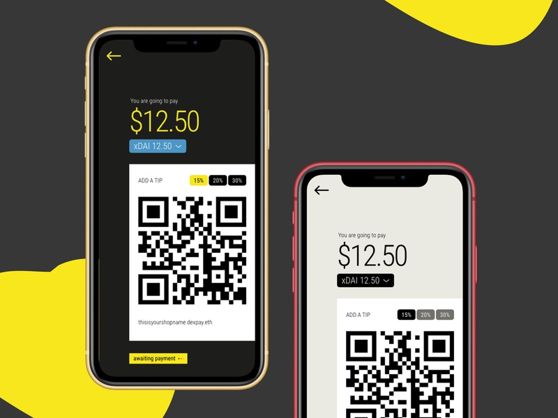 xPay Prototype ux ui blockchain wallet ethereum dai xdai mobile crypto qr payment point of sale pos