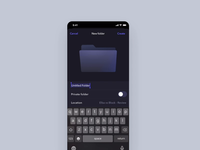 New folder interactions illustration iphone mobile motion ios animation app