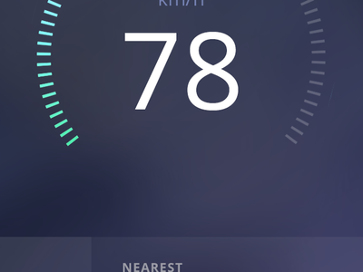 Speedcam app animation speedometer app iphone flat animation gif